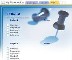how to adopt onenote templates for project management project