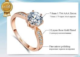 wedding rings for 1 75ct aaa zircon engagement rings for women gold color