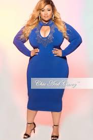 royal blue dress sale plus size bodycon dress with keyhole and gold