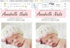 announcement cards to make child birth announcement cards in word