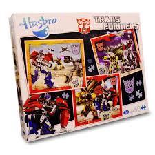 transformers prime 3 x 50 piece jigsaw puzzles in 1 box amazon