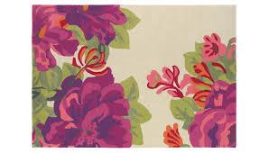 Purple Flower Rug Sanderson Midsummer Rose Rug