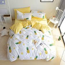 Cotton Bedding Sets Bulutu Pineapple Pattern 3 Pieces Cotton Bedding Sets