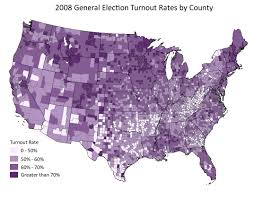 2004 Presidential Election Map by National Turnout Rates And Rankings Statchat