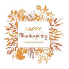 happy thanksgiving card design with branch frame and