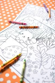 printable kid u0027s easter coloring placemats