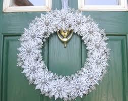 christmas wreath rustic christmas wreath snowflake wreath