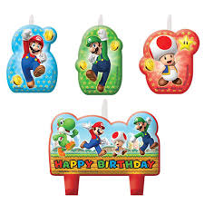 mario party supplies mario birthday candle set candles party supplies