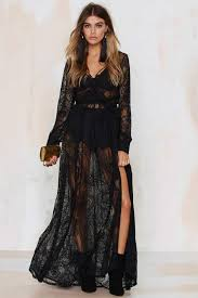 lace maxi dress gal one and only lace maxi dress black