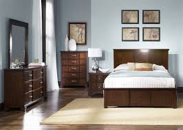 reflections bedroom set veneer panel headboard 6 piece bedroom set in amaretto finish by