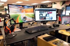 Standing Desk For Gaming L Desks For Gaming Kgmcharters