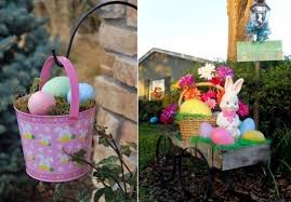 outdoor easter decorations outdoor easter decorations 27 ideas for garden and entry into