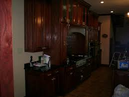 red oak cabinets with red mahogany stain for the home