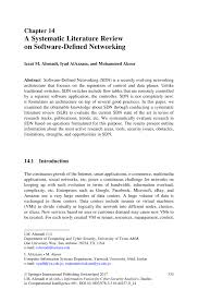 a systematic literature review on software defined networking
