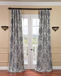 Beige And Gray Curtains Exclusive Fabrics Magdelena Silver Blue Faux Silk Jacquard