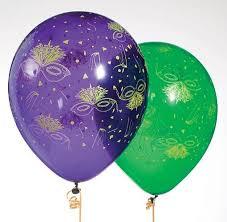 mardi gras masks and mardi gras mask around balloons shindigz
