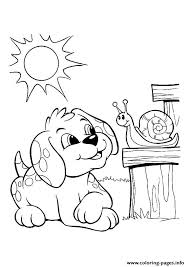 pup snail bonding puppy coloring pages printable