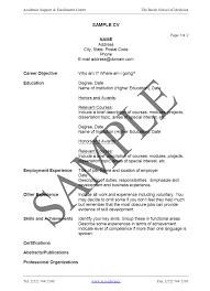 Resume Format Samples Download by 6 Formal Cv Format Sample Financial Statement Form