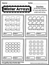 free resource arrays worksheet students look at an array and