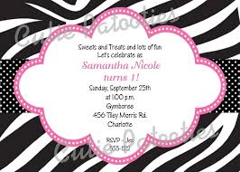free printable zebra print birthday invitations drevio