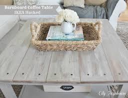 ikea hacked barnboard coffee table tutorial diy furniture re do