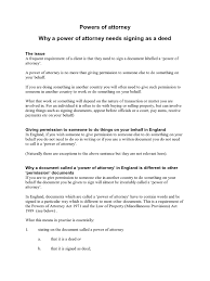 What Is The Power Of Attorney by Why Sign A Power Of Attorney As A Deed Power Of Attorney