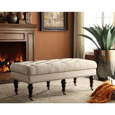 linon home decor isabelle dark espresso mobile bench 368253nat01u