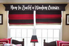 How To Make A Pelmet Valance Remodelaholic How To Build And Hang A Window Cornice