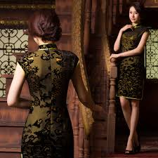 dark green dragon velvet chinese mandarin collar dress u2013 modern qipao