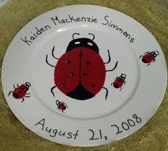 painted platters personalized personalized occasion plates aressa s weblog