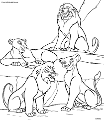 lion king 2 coloring pages kiara kovu lion 2017