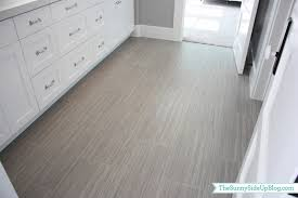 Grey Tile Laminate Flooring My Girls U0027 New Bathroom The Sunny Side Up Blog