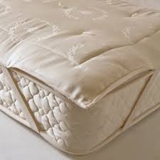 organic cotton outer ecowool fill mattress pad