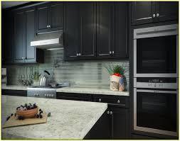 popular backsplash tile with dark cabinets interior home design of