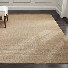 Latex Backed Rugs Sisal Almond Rug Crate And Barrel