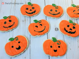 Halloween Pumpkin Sugar Cookies - halloween sugar cookies decorated ghost banner cookies cute candy