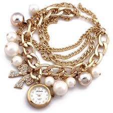woman charm bracelet images Souq ailisha for women pearls bow charm bracelet watch 260 8 jpg