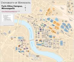 Iowa State Campus Map by University Of Minnesota Twin Cities Campus Map Minneapolis U2013saint