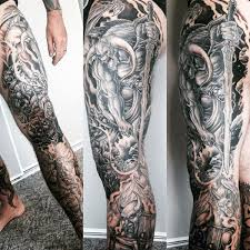 And Demons Sleeve Tattoos 90 Tattoos For Devilish Exterior Design Ideas