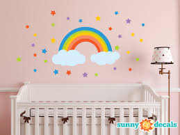26 rainbow wall decals rainbow and 2 clouds wall sticker 26 rainbow wall decals rainbow and 2 clouds wall sticker removable wall stickers and wall artequals com
