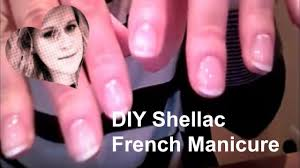 diy shellac french manicure never pay salon prices again youtube