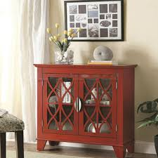small accent cabinet with doors antique red vintage lattice overlay accent cabinet