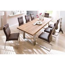 8 Seater Dining Tables And Chairs With Stainless Steel Legs And High Quality Oak The Capello Solid