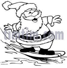 santa shorts coloring outlined santa shorts running