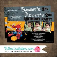spiderman halloween invitations printable or prints adorable invites