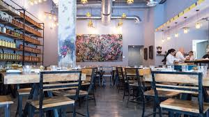 inside the bright modern space at ghee indian kitchen miami u0027s