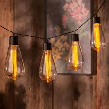 vintage bulb string lights battery operated vintage edison bulb string lights set of 10