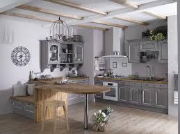 cuisine et beige decoration cuisine bleu et jaune