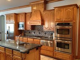 Microwave Inside Cabinet Kitchen Calm Backsplash Tile Color Closed Hoods Kitchen Cabinets