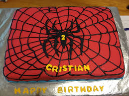 spiderman themed birthday cake postresymas